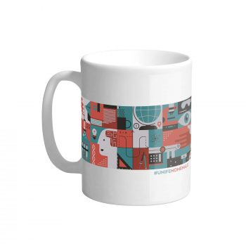 Mug ceramica unifenomenale sostegno ricerca crowdfunding