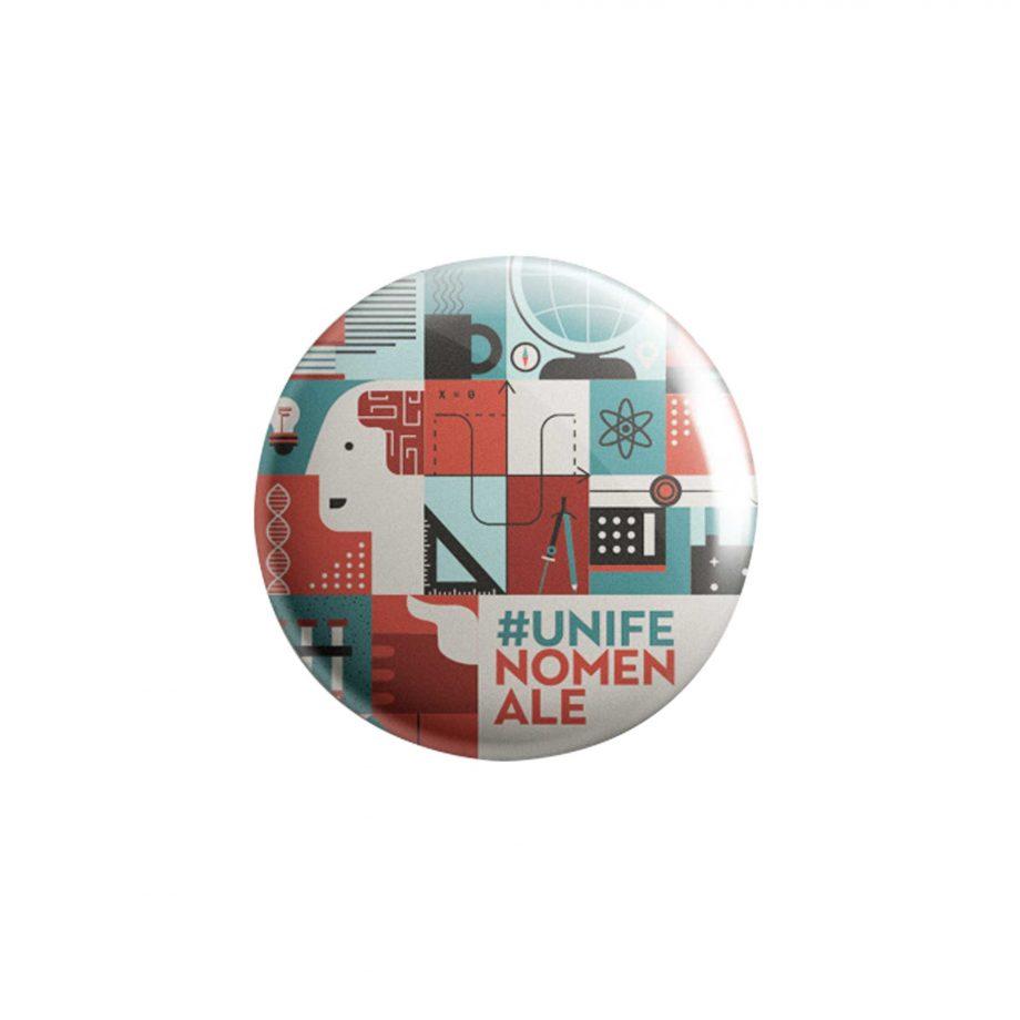 Spilla grafica puzzle unifenomenale sostegno ricerca crowdfunding