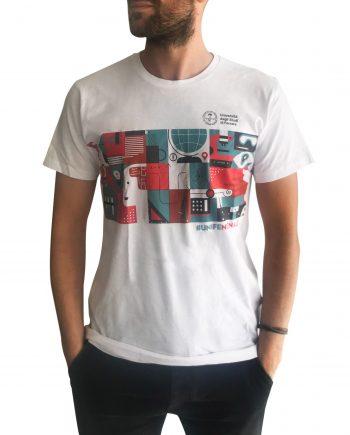 Tshirt uomo cotone unifenomenale sostegno ricerca crowdfunding